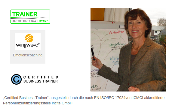 Wingwave Coaching beim DVNLP Trainer mit Certified Business Trainer Zertifikat